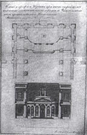 Проект церкви Св. Троицы (А.Штауберт 1833 г.)